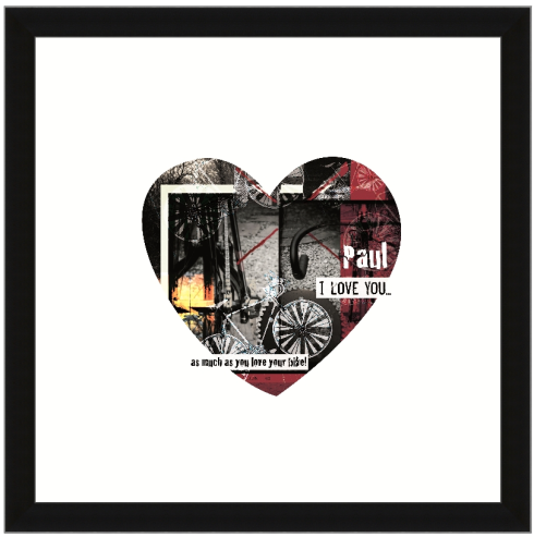 Personalised Bike Heart Print