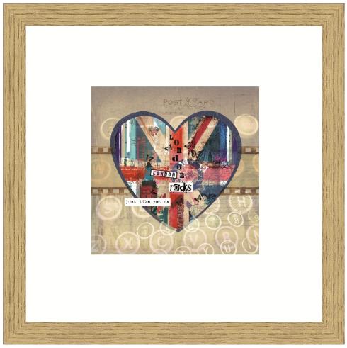 Personalised London Rocks Heart Print